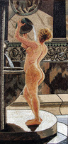 WOMAN BATHING  MOSAIC MURAL