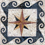 compass rose  or nautical mosaic