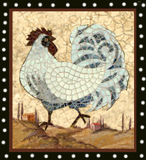 TUSCAN ROOSTER MOSAIC MURAL
