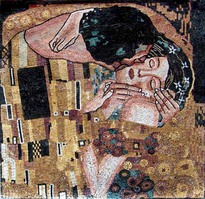 KLIMT THE KISS MOSAIC MURAL