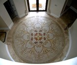 Medallion floor mosaic installation