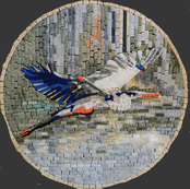 AT...... Bird in flight mosaic