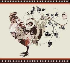 rooster mosaic