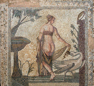 Ancient roman Woman mosaic