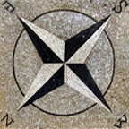 Compass Rose, Nautical mosaics , medallions and geometric