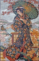 Asian woman mosaic woman