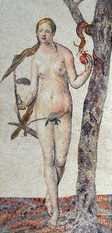 Eve in the Garden of Eden Mosaic mural