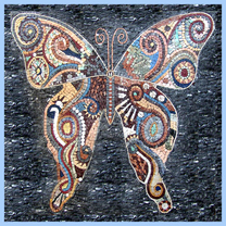 Large ornate butterfly mosaic