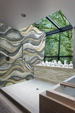 Wave mosaic Installation