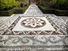 Outdoor Floor entryway mosaic