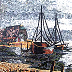 Waterscapes, seascapes, boats, beach mosaics