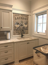 Installation of laundry room mosaic