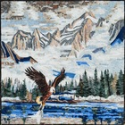 eAGLE IN MOUNTAINS MOSAIC MURAL