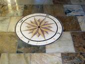 Compass Rose Medallion floor mosaic floor medallion installation