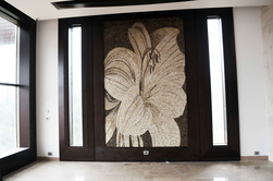 Fabulous giant flower mosaic installation