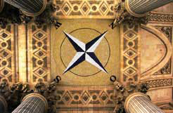 compass rose ceiling mosaic