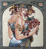 MUCHA REDESIGNED AS A MOSAIC