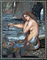 WATERHOUSE MERMAID REDESIGNED AS MOSAIC