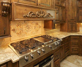 Scroll work mosaic installation..kitchen backsplash