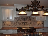 scrollwork mosaic KITCHEN BACKSPLASH installation