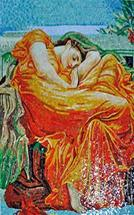 Glass mosaic ...Flaming June Mosaic Mural