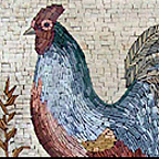 rooster mosaics