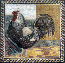 ROOSTER MOSAIC MURAL