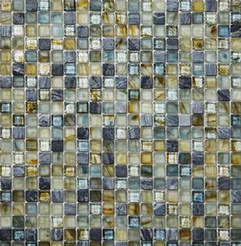 Glass and stone combination mosaic 12x12