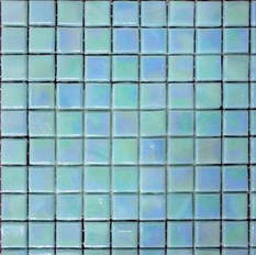 Turquoise irridescent glass mosaic 12x12  sheet