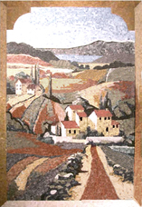 Tuscan landscape Mosaic with arch