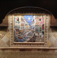 Venice Mosaic installation  kitchen Backsplash