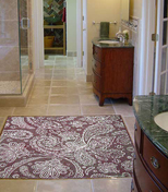 Paisley mosaic floor design installation