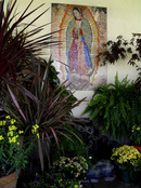 Our lady of guadalupe mosaic mural for garden  outdoor wall mosaic design