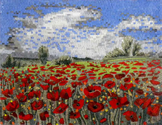 .Tuscan .Field of Poppies Mosaic