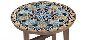 Medallion mosaic for table