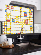 Mondrian inspired  mosaic backslash