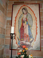 Our Lady of Guadalupe Church mosaic mural