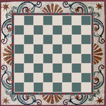 Mosaic checkerboard or chess board for table insert.. Personalized just for you, gameboard mosaic