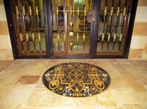 floor mosaic medallion installation