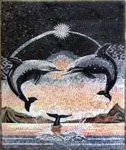 DOLPHINS MOSAIC MURAL