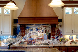 Mediterranean kitchen backslash installation