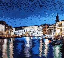 Venice at Night mosaic mural