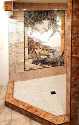 Bathroom  Installation of  Mosaic Amalfi Coastlne