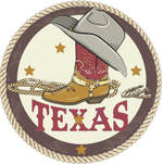 Texas Boot Mosaic Medallion